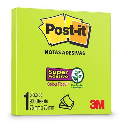 HB004309900---654-Post-it-Verde-Neon-76-x-76mm-90F