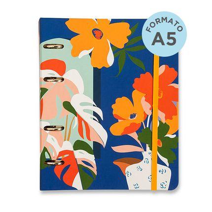 Caderno-Criativo-Office-Duo-Argolado-Polen-Pautado---Pontado-A5-Janelas-Azul