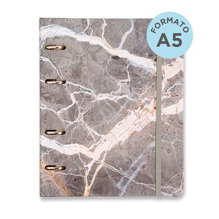 Caderno-Criativo-Office-Duo-Argolado-Minerais-Pautado---Pontado-A5-Cinza